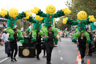 The parade marking Ireland's national day drew large crowds. Photo / Nick Reed