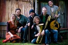 Waiata and the Word Sigrid Woolloff (left),Troy Hunt, Lindsay Rabbitt, Paul ('Boggy') Bognuda, Phill Simmonds and Nigel Patterson will play in Whanganui on Friday.  Photo/Supplied