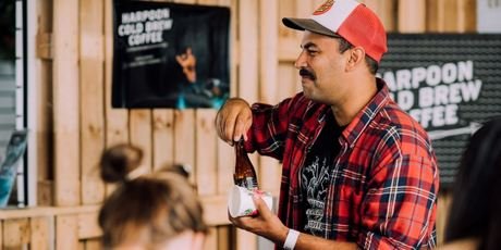 Harpoon Cold Brew's Arjun Haszard. Photo / Supplied