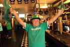 Eric Tomkin gets into St Patrick's Day.  Photo/ Ben Fraser