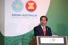 Indonesian President Joko Widodo, speaking here at an Asean summit in Australia on Saturday, will meet with Jacinda Arden in Wellington tomorrow.  Photo / Mark Metcalfe