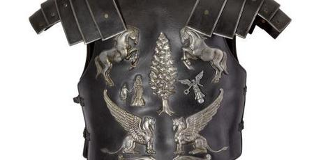 The stunt cuirass worn by Russell Crowe in Gladiator sold for $120,000. Photo / Sothebys