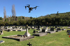 The cemetery-mapping drone. Photo / Supplied
