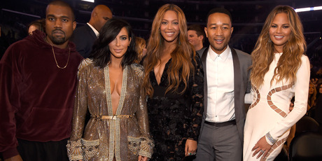 Kanye West, Kim Kardashian West, Beyonce, John Legend and Chrissy Teigen attend The 57th Annual GRAMMY Awards. Photo / Getty