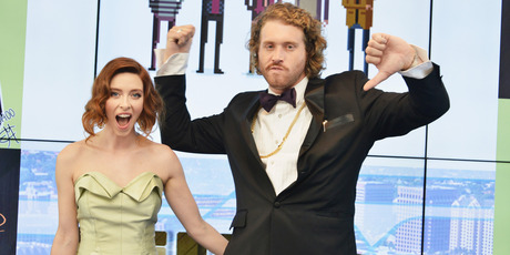 Actors Kate Gorney (L) and T. J. Miller attend the 5th Annual Critics' Choice Television Awards at The Beverly Hilton Hotel. Photo / Getty