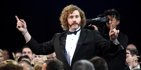 Host T. J. Miller onstage during The 22nd Annual Critics' Choice Awards. Photo / Getty