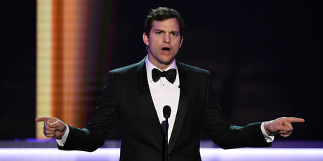 Actor Ashton Kutcher speaks onstage during The 23rd Annual Screen Actors Guild Awards at The Shrine Auditorium. Photo / Getty