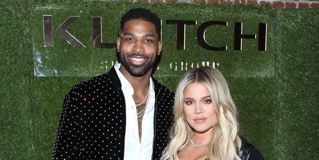Tristan Thompson and Khloe Kardashian attend a dinner. Photo / Getty