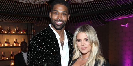 Tristan Thompson and Khloe Kardashian attend the Klutch Sports Group Dinner. Photo / Getty
