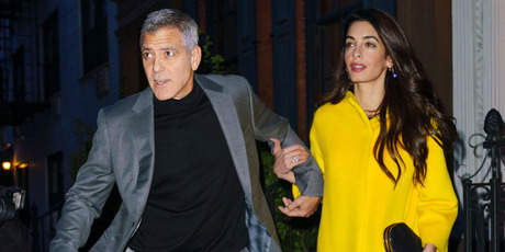 George Clooney and Amal Clooney go out for dinner, April 6, 2018. Photo / Getty Images