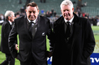 NZ Rugby CEO Steve Tew, with All Blacks coach Steve Hansen, says there was potential for the stores to become