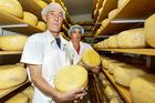 Hohepa cheese makers Peter Hargroves (left) and Inacio Guimaraes. Photo / Warren Buckland