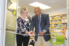 Citizens Advice Bureau Kapiti chairwoman Sandra Daly and Kapiti mayor K Gurunathan cut a ribbon to declare the bureau's new premises in Coastlands open.