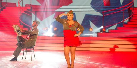 Jay Jay Feeney on Dancing with the Stars. Photo / Supplied