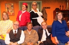 The talented cast and director of Boeing Boeing.