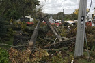 Recent severe storms have highlighted the deteriorating state of the private property infrastructure when trees have toppled failing poles and lines. Picture / NZME