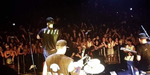 Six60 performing at Wharepai Domain.