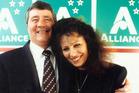 Jim Anderton and Sandra Lee in November 1994. Photo / File