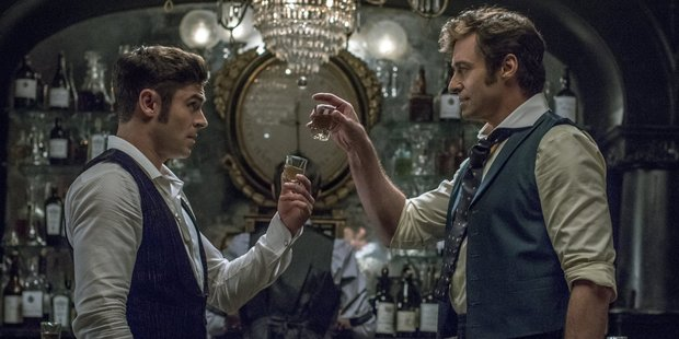 Hugh Jackman and Zac Efron star in The Greatest Showman.