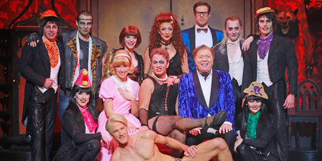 Cast members from Rocky Horror Show. Photo / Getty