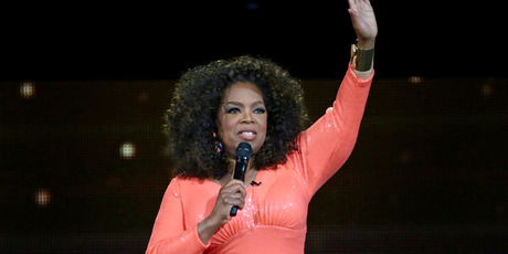 Oprah Winfrey on stage during her An Evening With Oprah tour on December 2, 2015 in Melbourne, Australia. Photo / Getty