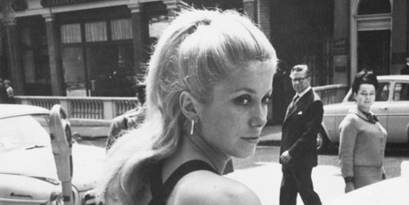 French film star Catherine Deneuve in London for the premiere of her new film 'Repulsion', a thriller directed by Roman Polanski, 10th June 1965. Photo / Getty