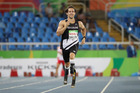 Liam Malone of New Zealand reacts after competing in the Men's 400m, Rio 2016 Paralympic Games. Photo / Getty