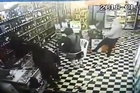Security footage captures two incidents a Thirsty Liquor store in Otara was robbed. Supplied by Gurneet Mander