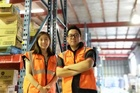 Ronnie and Doreen Xue of QEX Logistics. Picture / supplied