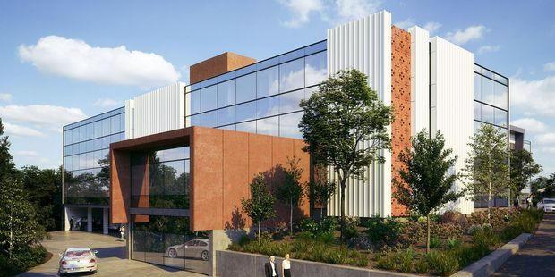 An artists impression of what the refurbished KGL Property building will look like on 1 Clyde St.Photo / Supplied