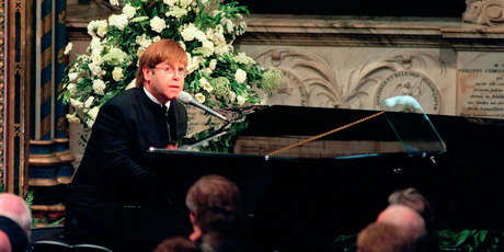 Sir Elton John sang 'Candle in the Wind' at the funeral of Diana, Princess of Wales in 1997. Photo / Getty