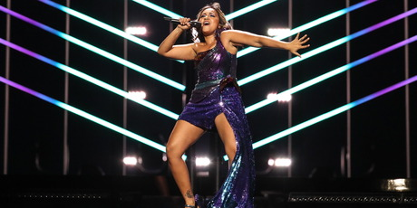 Singer Jessica Mauboy representing Australia performs the song We Got Love during a rehearsal. Photo / Getty