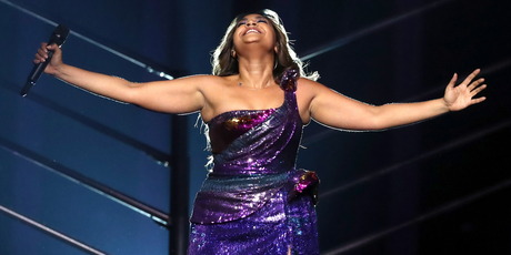 Singer Jessica Mauboy representing Australia performs the song We Got Love. Photo / Getty