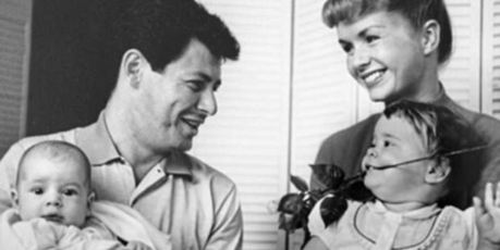 Debbie and Eddie are pictured with Todd and Carrie in this family photo from 1958. Photo / Supplied