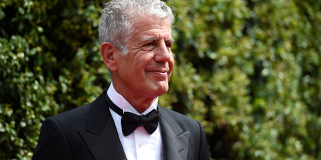 Anthony Bourdain arrives at the Creative Arts Emmy Awards in Los Angeles. On Friday, June 8, 2018. Photo / AP