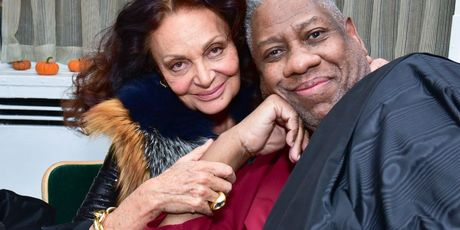 Diane von Furstenberg and Andre Leon Talley. Photo / Getty Images