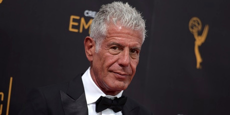 Anthony Bourdain at night two of the Creative Arts Emmy Awards. Photo / Supplied