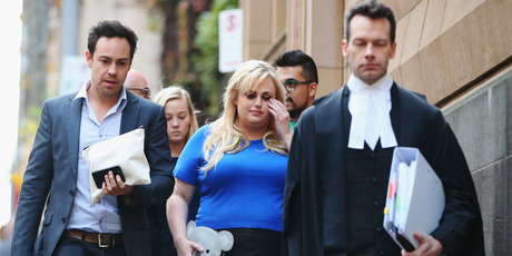 Actor Rebel Wilson leaves the Melbourne Supreme Court on May 24, 2017 in Melbourne. Photo / Getty