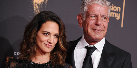 Asia Argento and Anthony Bourdain attend the 2017 Creative Arts Emmy Awards. Photo / Getty Images
