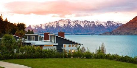 Matakauri Lodge on the shores of Lake Wakatipu. Photo / Supplied