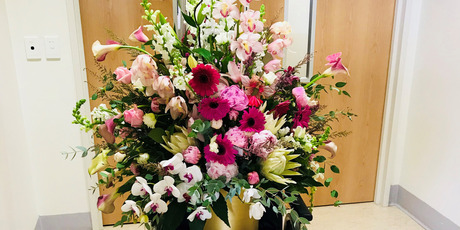 Bouquet of flowers from the Embassy of the Kingdom of Saudi Arabia to Jacinda Ardern. Photo / Supplied