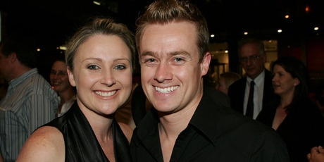 TV weatherman Grant Denyer and his companion in 2004. Photo / Getty