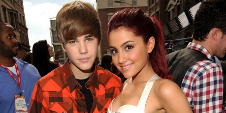 Singer Justin Bieber (L) and actress Ariana Grande attend Variety's 4th Annual Power of Youth event at Paramount Studios on October 24, 2010. Photo / Getty