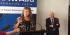 Watch: Hon Clare Curran speaks after the Hawaiki cable ship tour at the Cloud