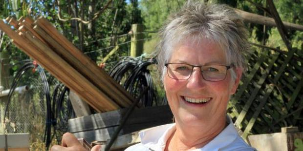 Backyard Beekeeping is proving a popular class at this year's Sustainable Skills Summer School in Oamaru, tutor Marian Shore says. Photo / Hamish MacLean