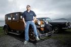 Rotorua Vintage Car Club's David Tomlinson with his 1929 Essex Super 6 and 1968 Rolls-Royce Silver Shadow. Photo/Andrew Warner.