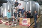 The festival wineries crew L-R: Paul Ham,  Dermot Haworth,  Stefan Loetscher,  John Buntain,  Grant Edmonds,  Chris Wilcock, and Jason Stent.  HBT18002101