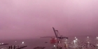 Watch: Stunning time-lapse of Auckland's purple sky