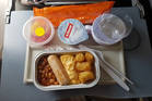 A meal aboard a Fiji Airways flight. Photo / Winston Aldworth