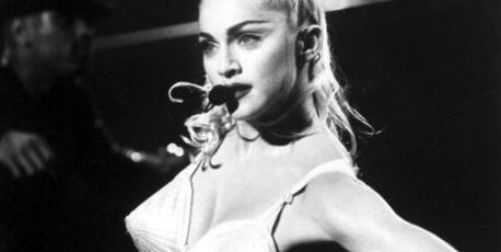 Madonna wore a Jean-Paul Gaultier corset for her Blond Ambition Tour. Photo / Getty Images